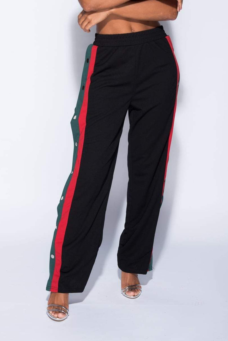 Cheska Button Detail Sports Trousers