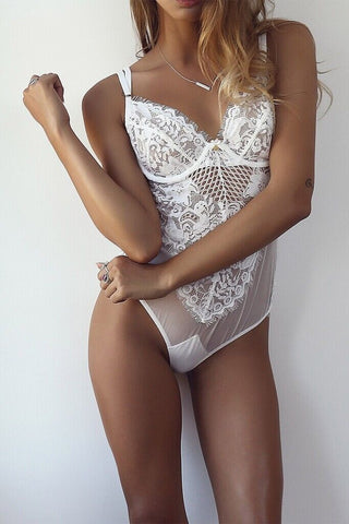 Riley White Lace Bodysuit