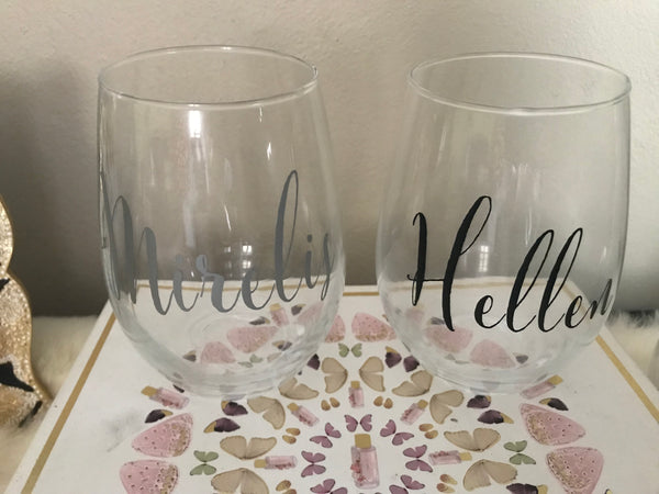 Personalized Stemless Wine