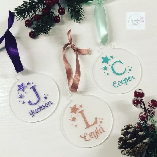 Personalized Acrylic Ornaments 3.5""