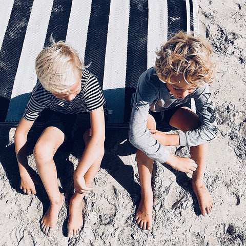 Reef Boys Swim Shorts in Black by CURRENT swimwear - @kirsten.s.reid