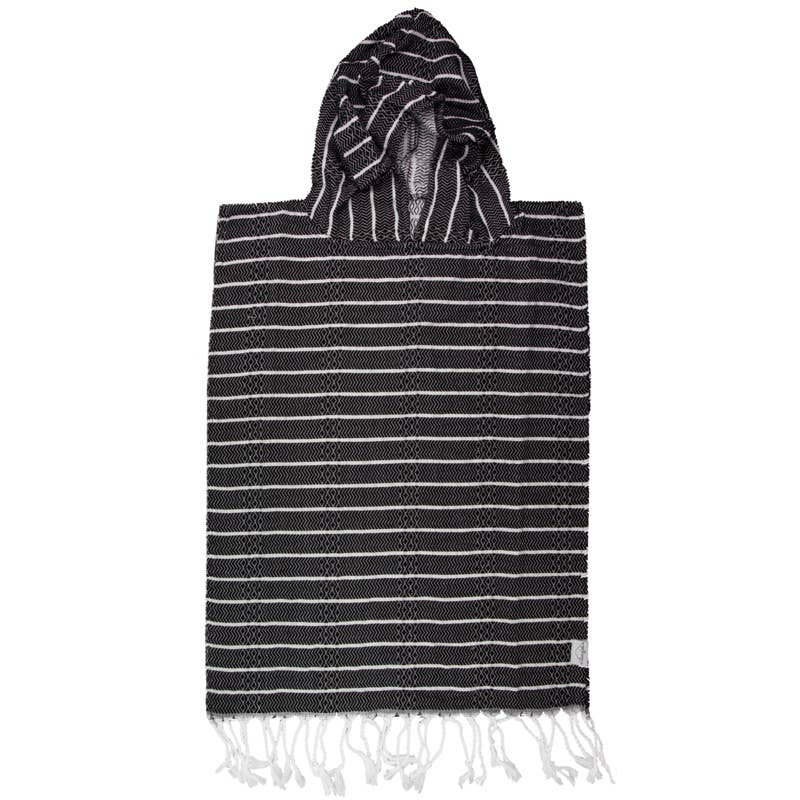 Child Poncho Turkish Towel in Raven by House of Jude | Current Label