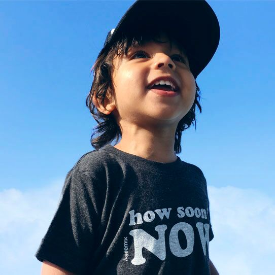 How Soon Is Now Kids Short Sleeve T-Shirt in Black by Tiny Remix at CURRENT LABEL