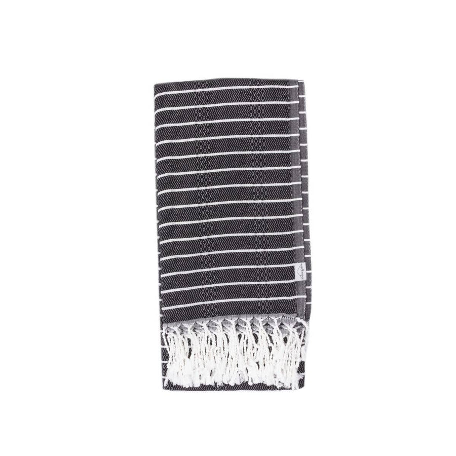 Oversized Turkish Towel in Raven by House of Jude | Current Label