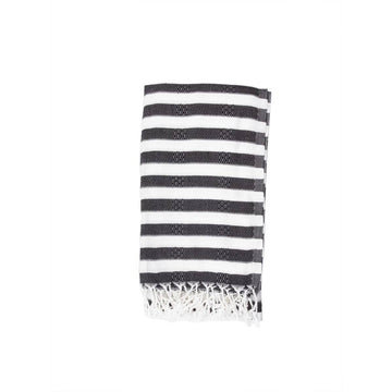 Oversized Turkish Towel in Ebony by House of Jude | Current Label