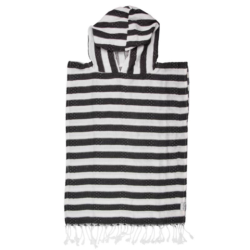 Child Poncho Turkish Towel in Ebony by House of Jude | Current Label