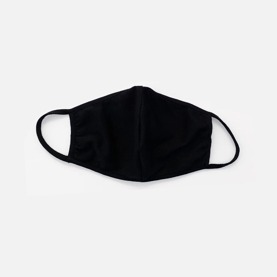 Unisex Adults Reusable Washable Face Protection Mask in Black by Current Label