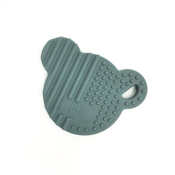 Bear Baby Teether in Grey by One.Chew.Three