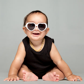 Bebe Baby Sunglasses in White by Teeny Tiny Optics at CURRENT