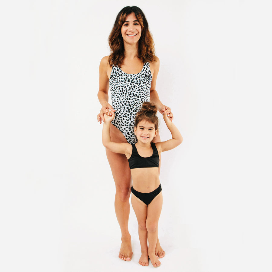Bondi Womens One Piece Swimsuit in Leopard by CURRENT | Mommy & Me Swim | Current Label Swimwear