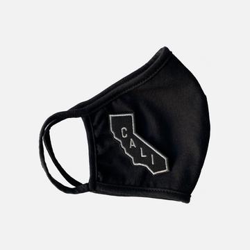 Black Cali Patch Adult Reusable Face Mask