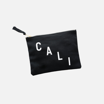 Cali Cotton Pouch in Black