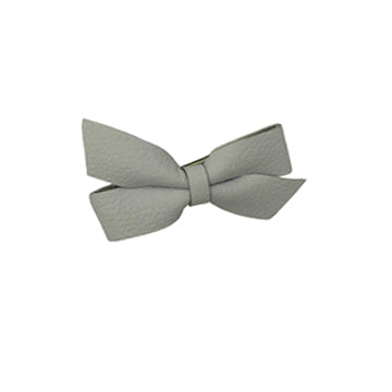 Classic Leather Bow Hair Clip in White by CIALA Co