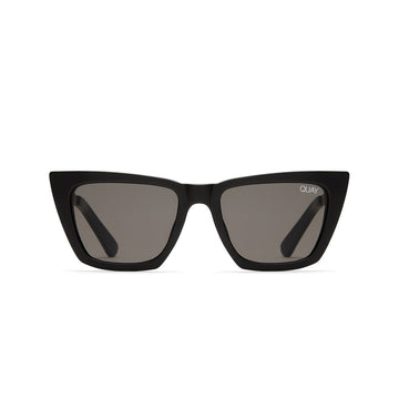Don't @ Me Sunglasses for Women in Black with Smoke by Quay Australia at CURRENT