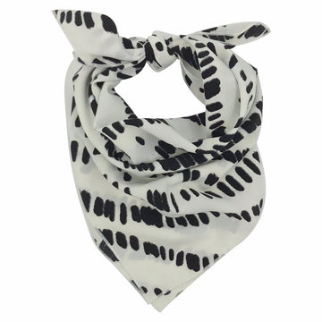 Dunes Adult Bandana Scarf in White Black by CURRENT
