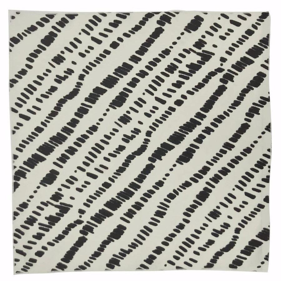 Dunes Adult Bandana Scarf Flat in White Black by CURRENT