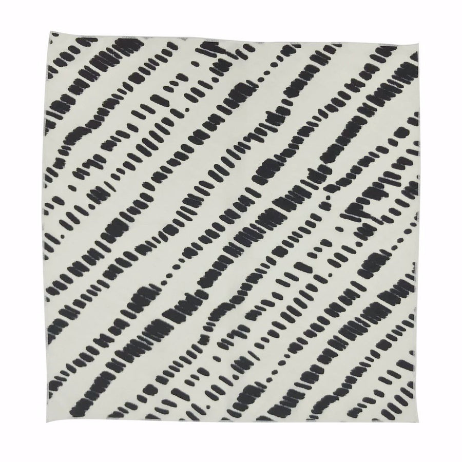 Dunes Kids Bandana Scarf Flat in White Black by CURRENT