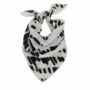 Dunes Little Bandana Scarf in White Black by CURRENT