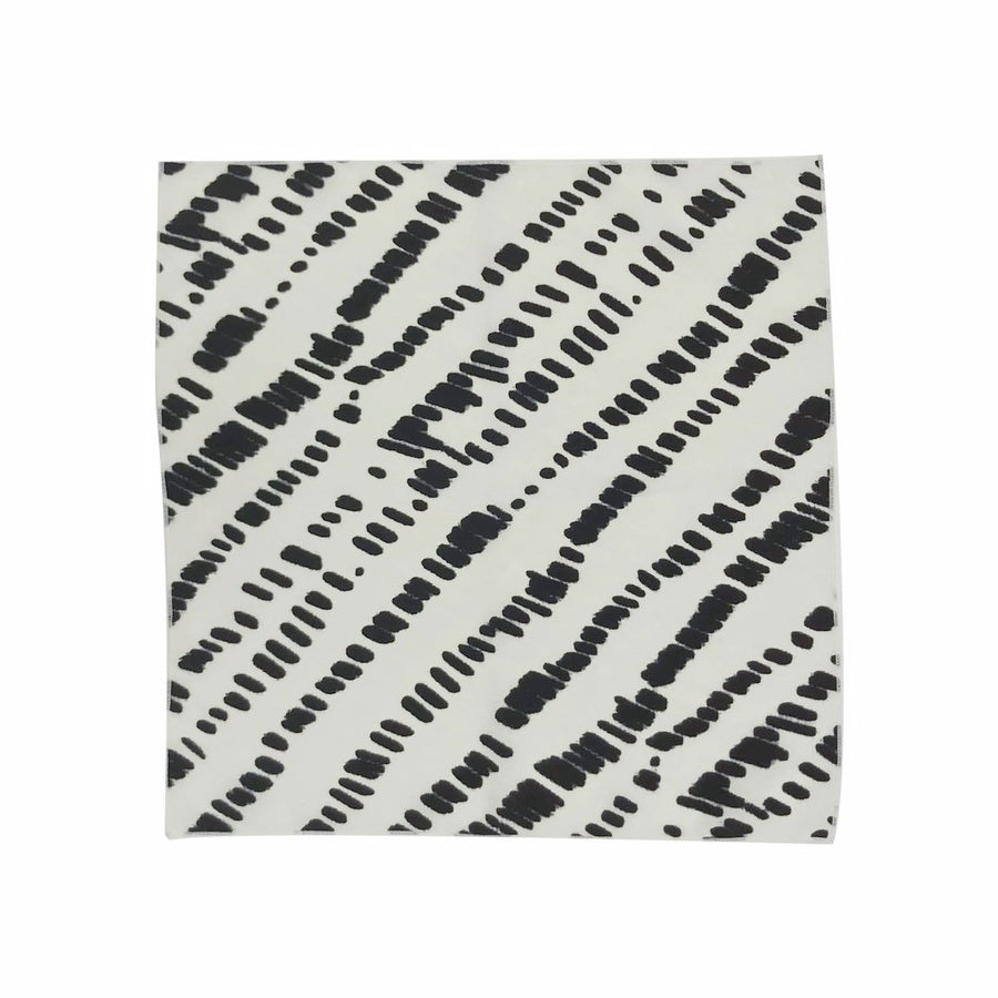 Dunes Little Bandana Scarf Flat in White Black by CURRENT