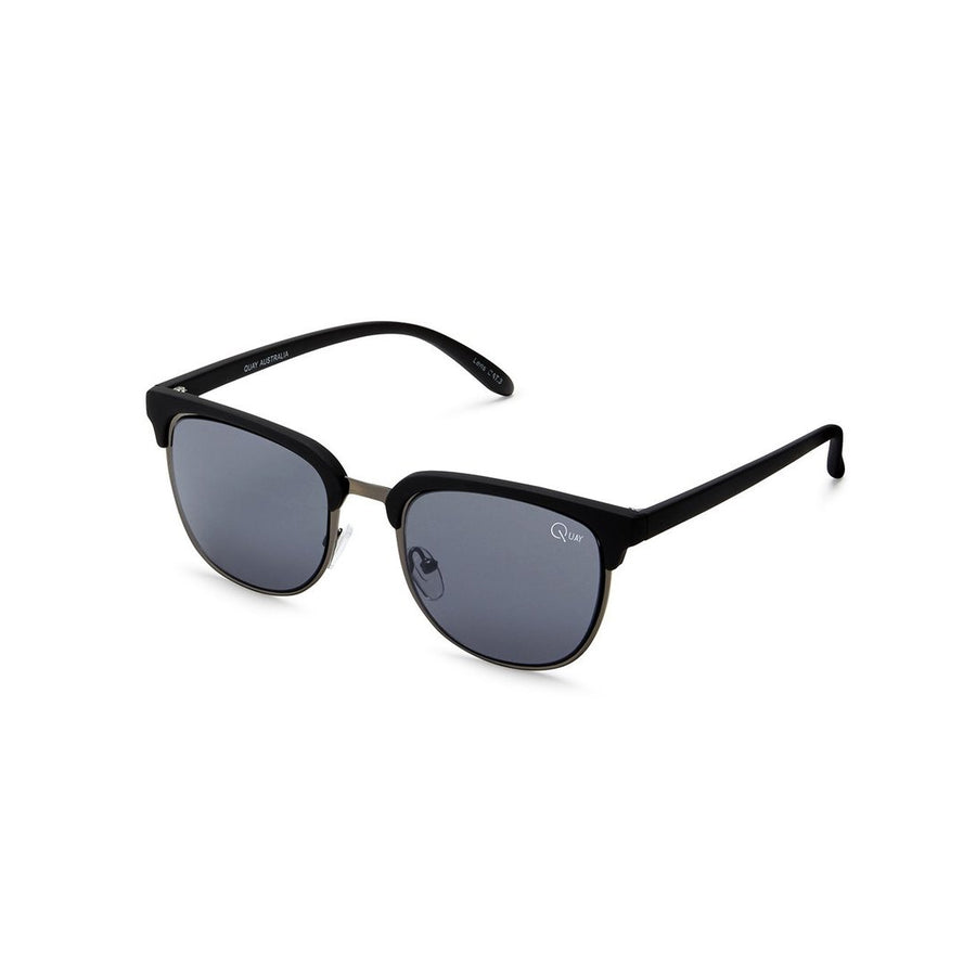 Flint Sunglasses in Matte Black by Quay Australia at CURRENT