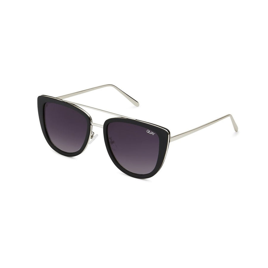 French Kiss Sunglasses in Black by Quay Australia at CURRENT