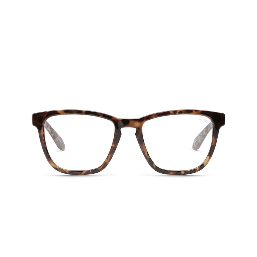 Hardwire Blue Light Computer Glasses for Men and Women in Tortoise with Clear lens by Quay Australia at CURRENT