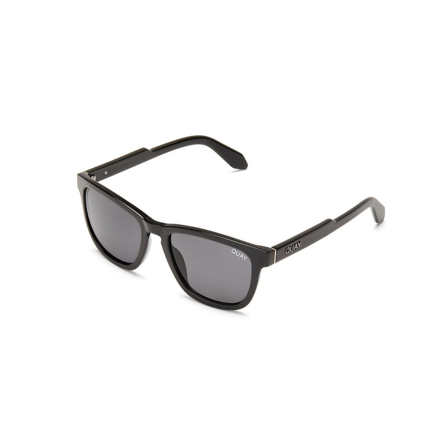 Hardwire Sunglasses for Men and Women in Black with Smoke by Quay Australia at CURRENT