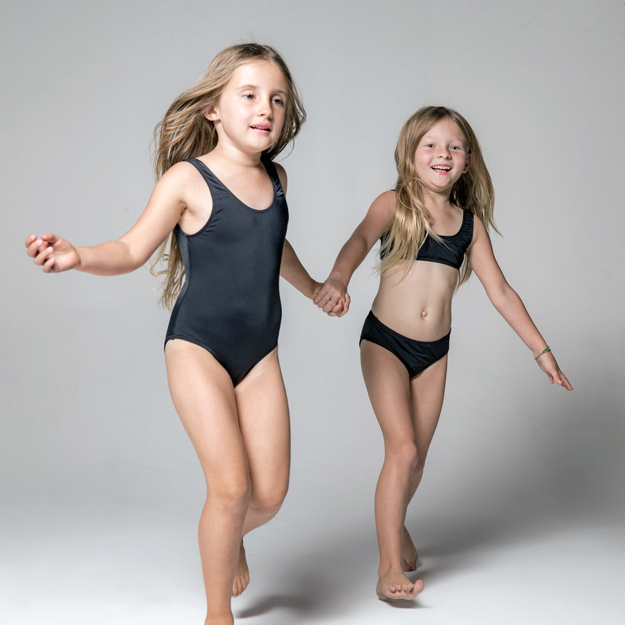 Isla Signature Girls Swimsuits in Black by CURRENT