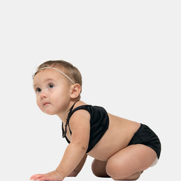 Isla Signature Baby Girls Bikini Swimsuit in Black by CURRENT swimwear