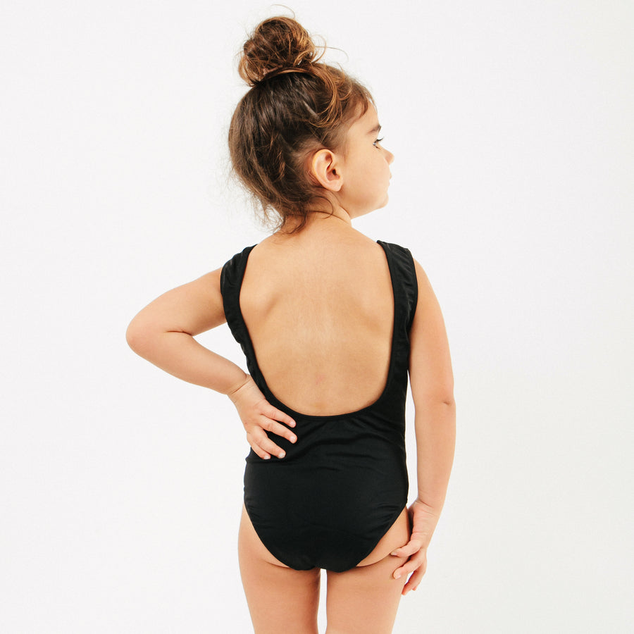 Isla Girls One Piece Swimsuit in Black by CURRENT | Mommy & Me Swim | Current Label Swimwear