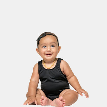 Isla Signature Baby Girls Bikini Swimsuit in Black by CURRENT