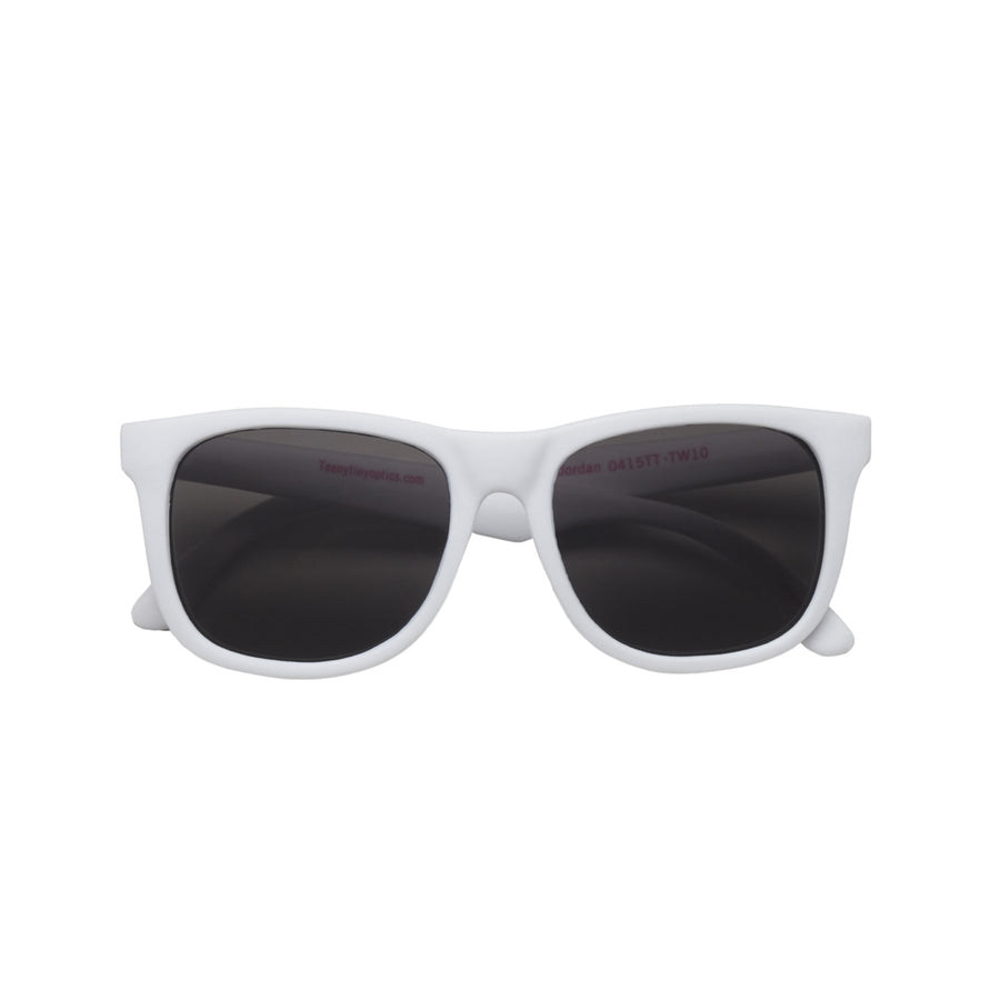 Jordan Baby Sunglasses in White by Teeny Tiny Optics at CURRENT