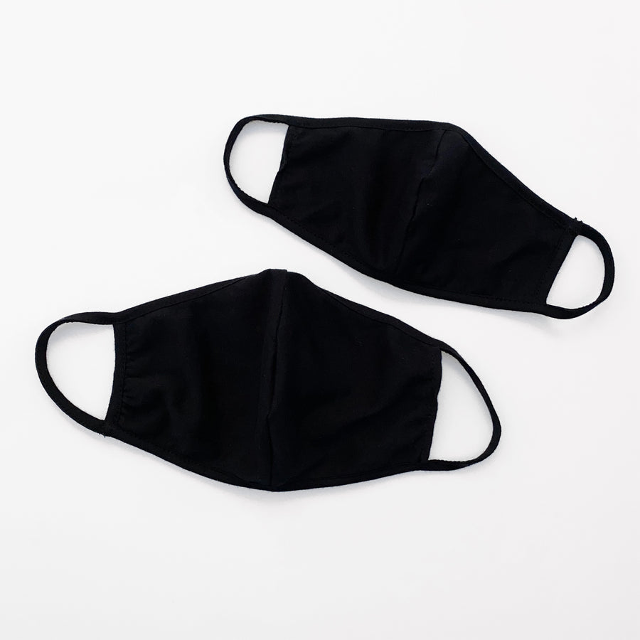 Unisex Kids and Adults Reusable Washable Face Protection Masks in Black by Current Label