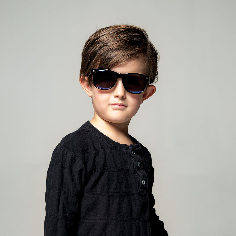 Kit Kids Sunglasses in Black by Teeny Tiny Optics at CURRENT