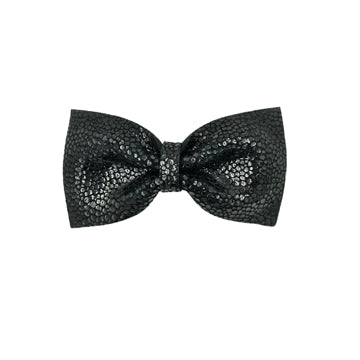 Limited Edition Leather Bow Tie Hair Clip in Black by CIALA Co