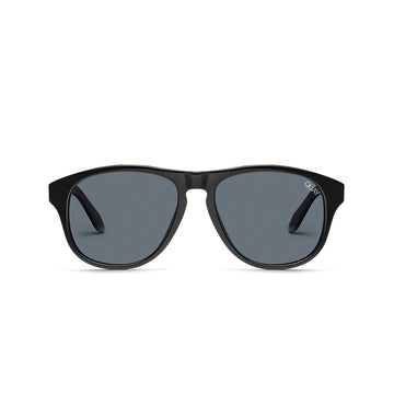 Lost Weekend Sunglasses For Men and Women in Black with Smoke by Quay Australia at CURRENT
