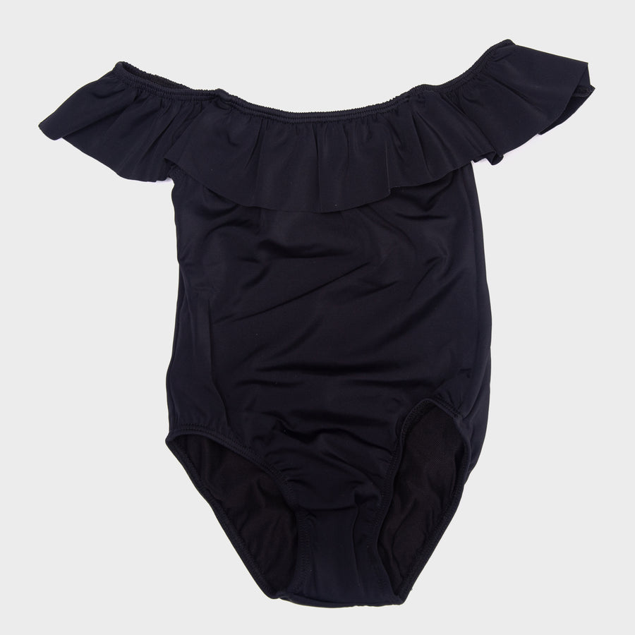 Luna Ruffle Baby One Piece in Black
