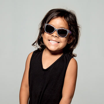 Maggie Toddler Sunglasses in Black and White Chevron by Teeny Tiny Optics at CURRENT