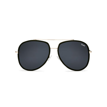 Needing Fame Sunglasses in Black by Quay Australia at CURRENT