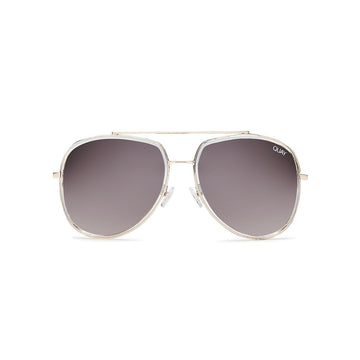 Needing Fame Sunglasses in Clear by Quay Australia at CURRENT