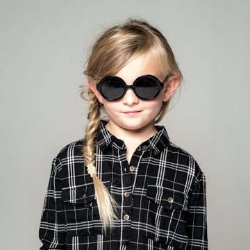 Olive Kids Sunglasses in Black by Teeny Tiny Optics at CURRENT