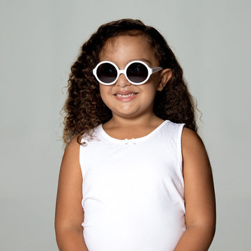 Olive Kids Sunglasses in White by Teeny Tiny Optics at CURRENT