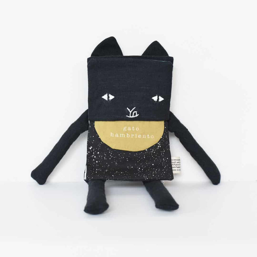 Organic Cat Flippy Friend by Wee Gallery at CURRENT LABEL | Monochrome Gifts