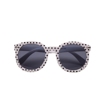 Paige Kids Sunglasses in Black and White Polka Dot by Teeny Tiny Optics at CURRENT