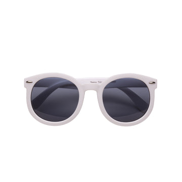 Paige Kids Sunglasses in White by Teeny Tiny Optics at CURRENT