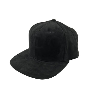 Quinn Suede Snapback Hat in Black by CURRENT