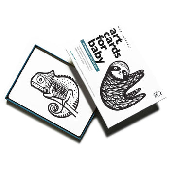 Art Cards for Baby - The Rainforest Collection by Wee Gallery at CURRENT LABEL | Monochrome Gifts