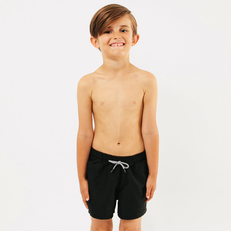 Reef Boys Swim Trunk Shorts in Black by CURRENT | Baby and Kids Swimwear | Current Label Swimwear