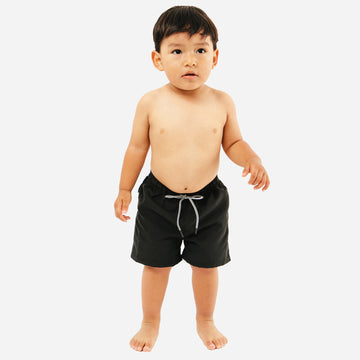 Reef Baby Boys Swim Trunk Shorts in Black by CURRENT | Baby and Kids Swimwear | Current Label Swimwear