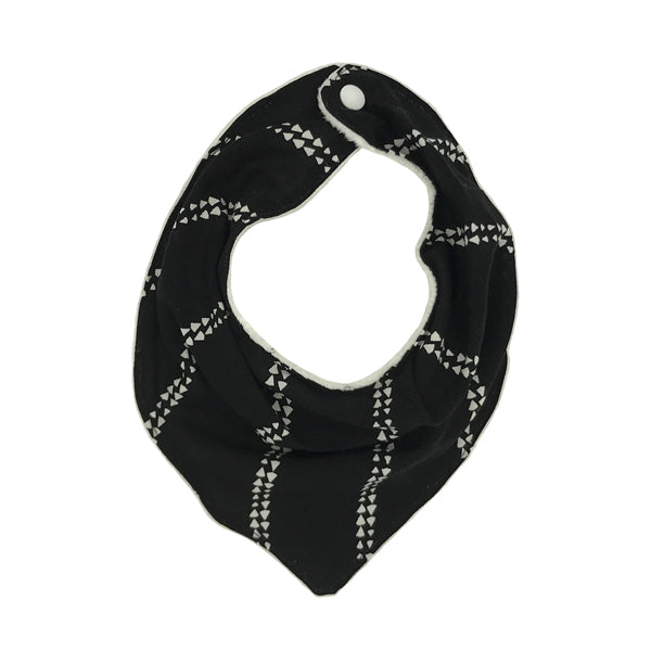 Reversible Bandana Bib in Love Triangle by CURRENT x Woof Meow